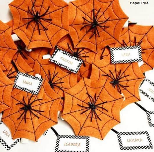 convite Halloween teia de aranha