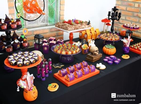 decor de mesversario Halloween