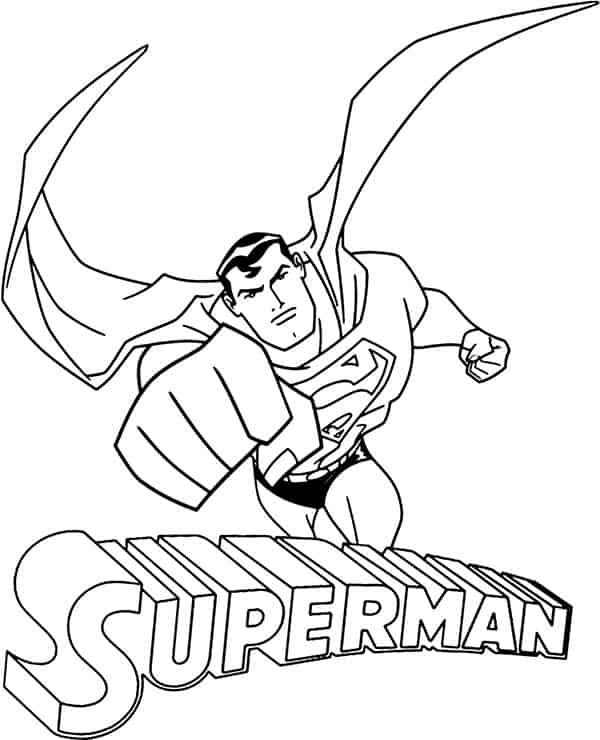 desenho do super homem