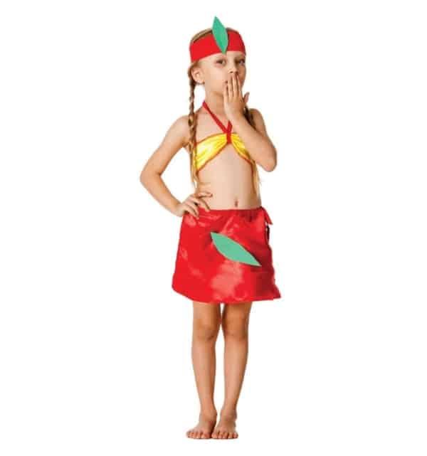 fantasia de indio com saia vermelha