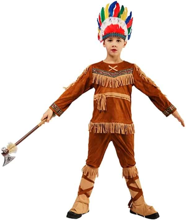 fantasia de indio infantil estilo americano