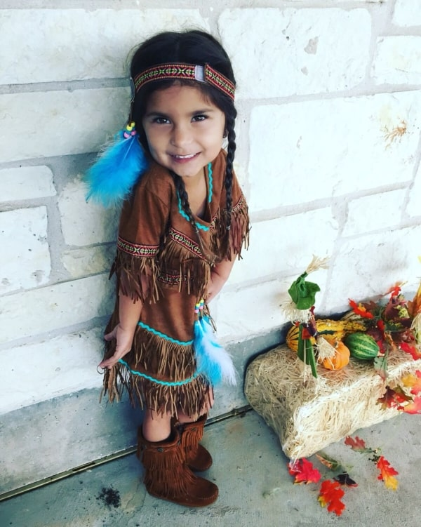 fantasia de indio infantil menina eua