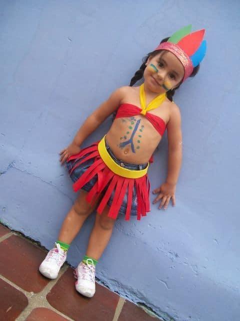 fantasia de indio infantil menininha