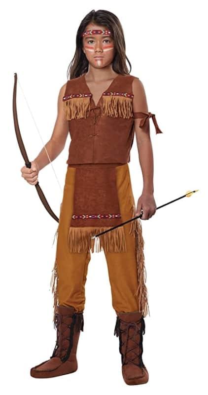 fantasia de indio infantil norte americano com colete