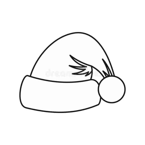gorro pequeno do Papai Noel