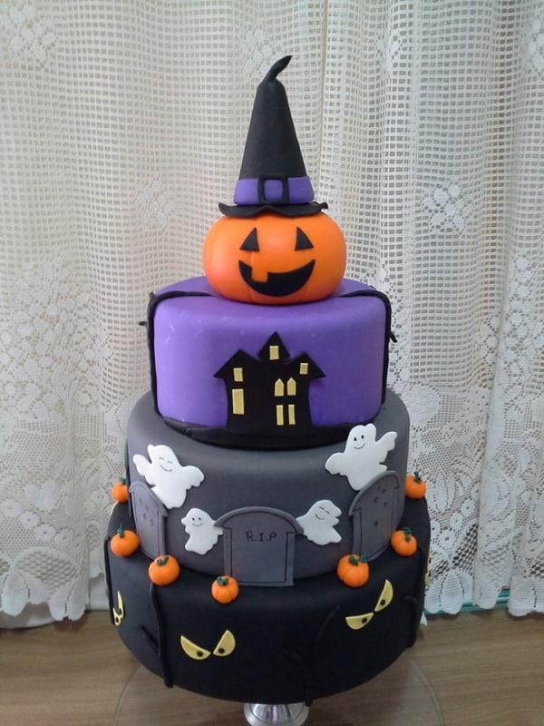 ideias de Bolo mesversário Halloween