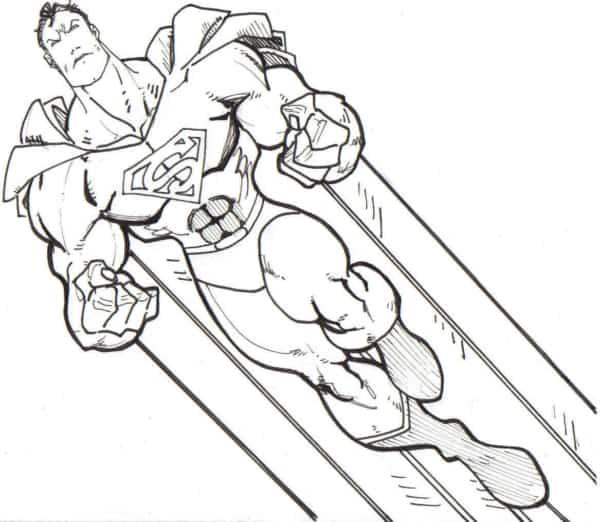 imagem do Superman para pintar