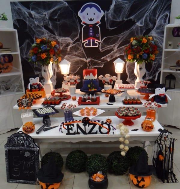 linda decor de mesversario Halloween