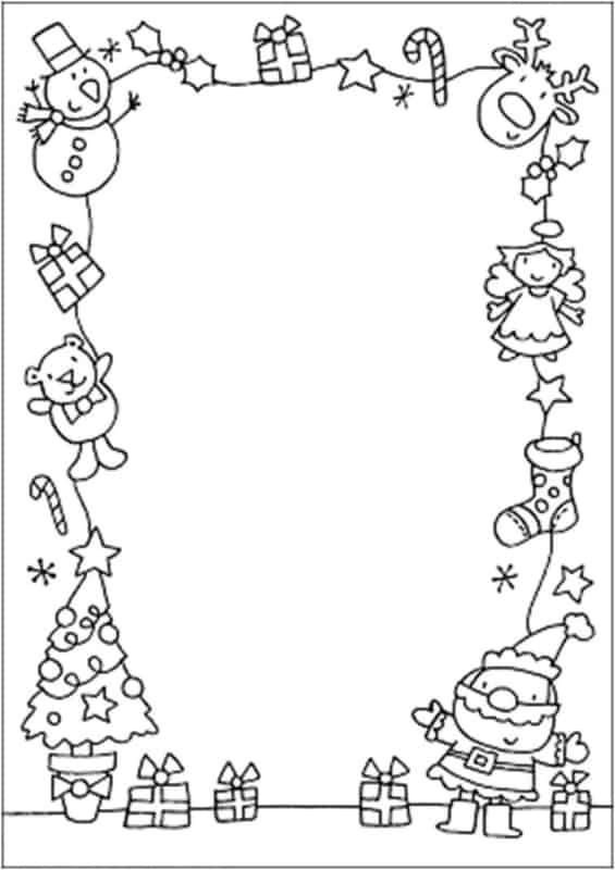 modelo de carta do Papai Noel para imprimir
