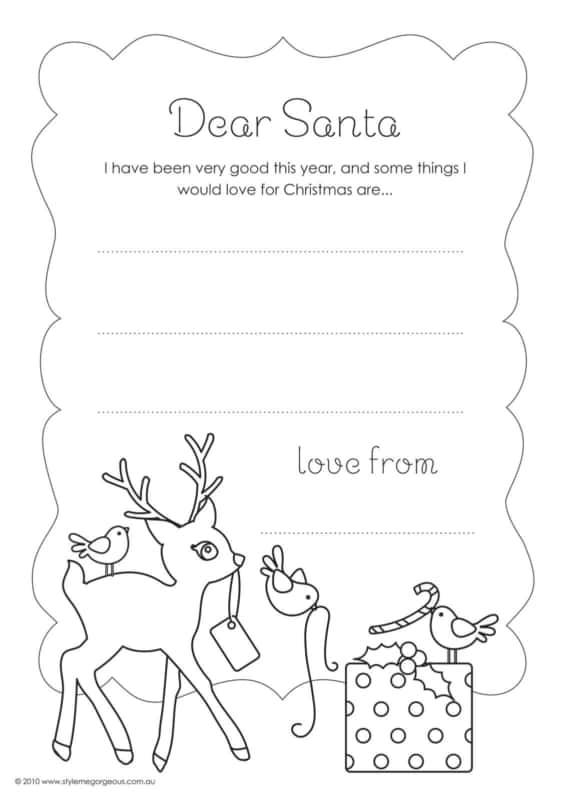 modelo de carta do Papai Noel