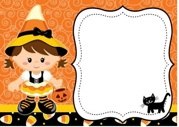 molde para convite Halloween