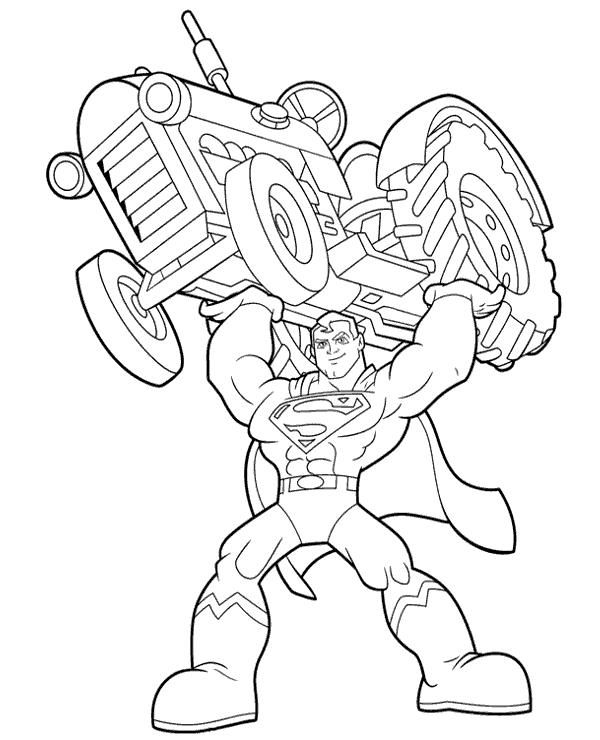 pequeno superman para colorir