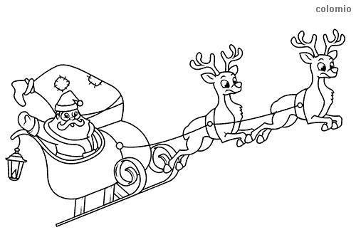 pequeno trenó do Papai Noel para pintar
