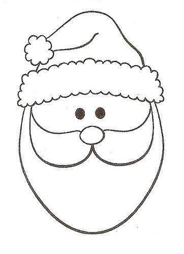 rosto do Papai Noel para pintar