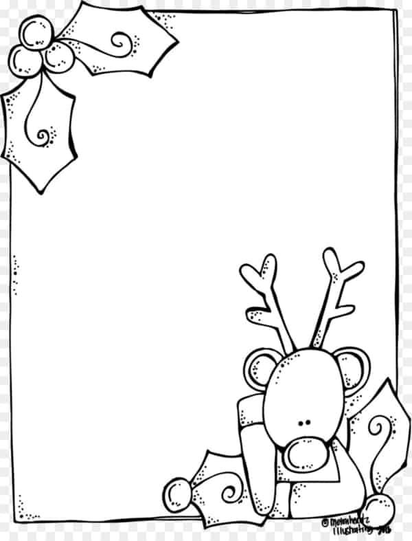 template de carta do Papai Noel