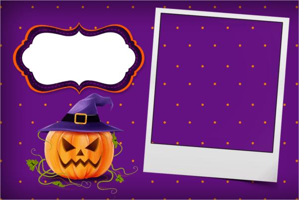 template para convite Halloween