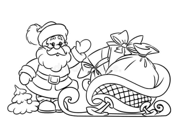 trenó do Papai Noel para pintar