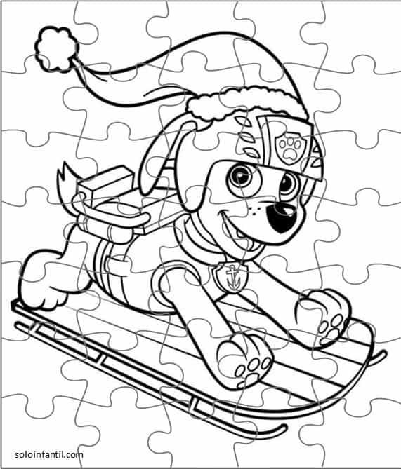 quebra cabeça infantil da patrulha canina para imprimir
