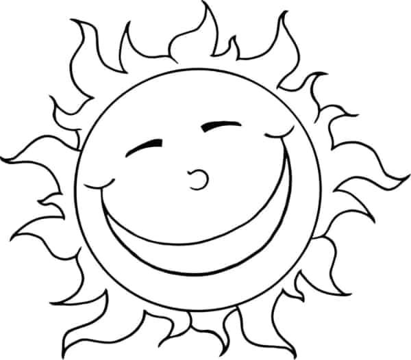 desenho de sol fofinho para imprimir e pintar