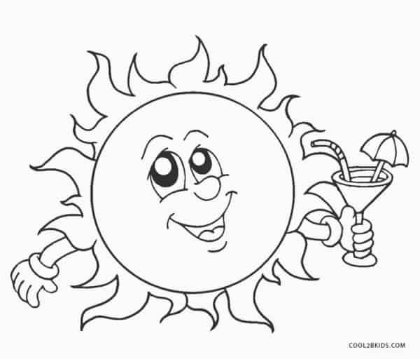 desenho de sol para pintar