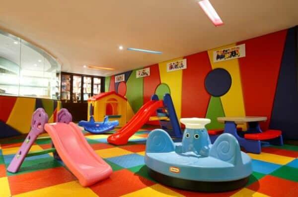 Playground completo na brinquedoteca