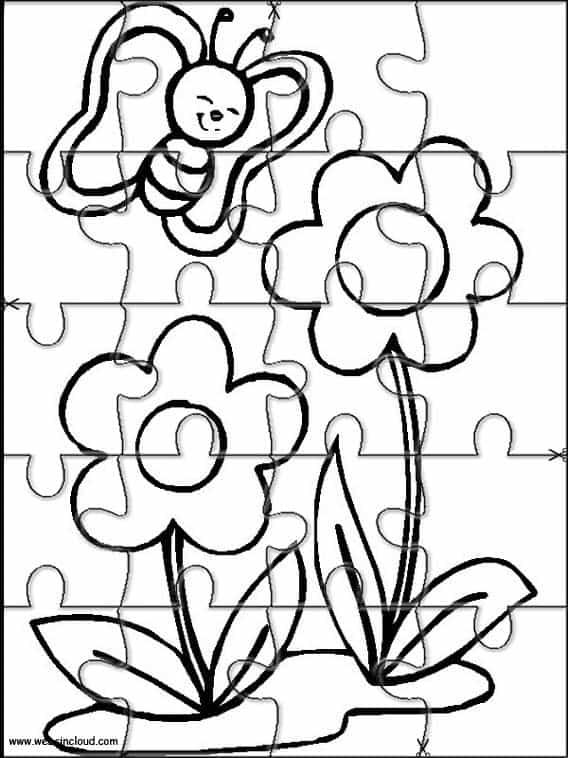 quebra cabeça de flor para imprimir grátis