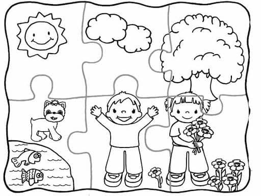 quebra cabeça pequeno e simples para crianças