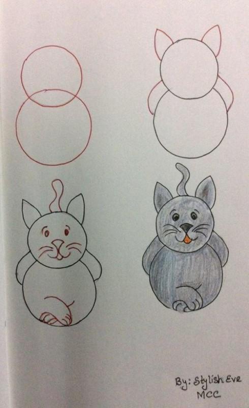 Como desenhar animais com números gato