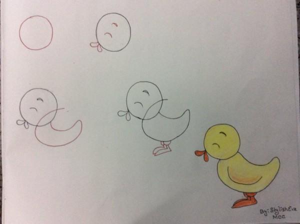 Como desenhar animais com números pintinho