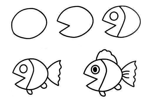 Como desenhar animais peixe