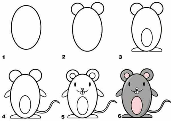 Como desenhar animais rato