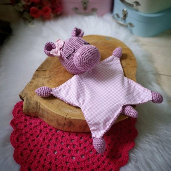 Hipopótaminho amigurumi naninha