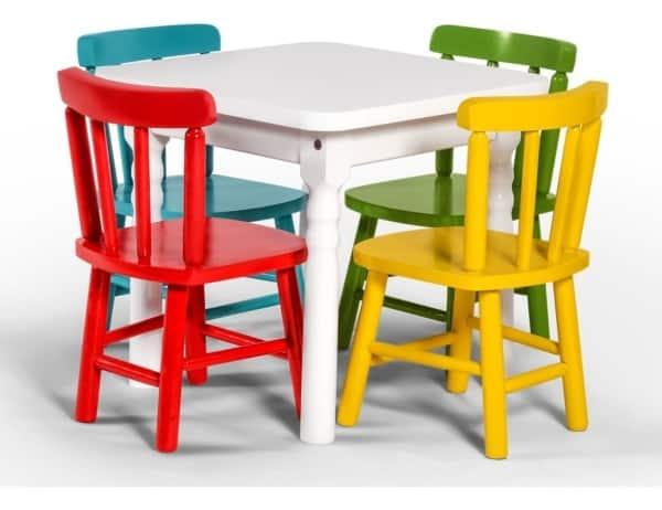 Exemplo de mesa para os pequenos