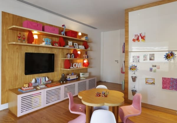 Panorama dos móveis de uma brinquedoteca