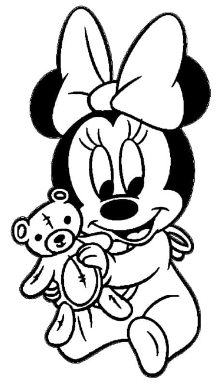 Mannie baby com ursinho para colorir