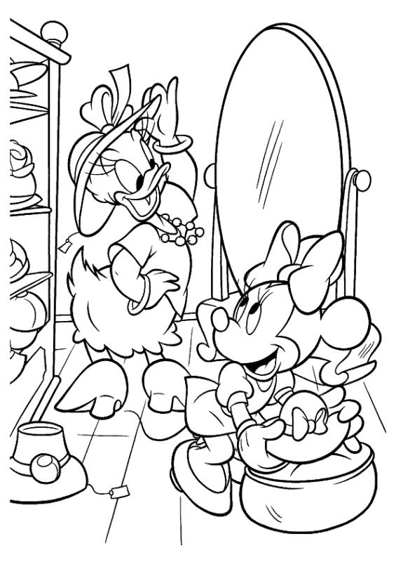 Margarida e Minnie sao melhores amigas no desenho