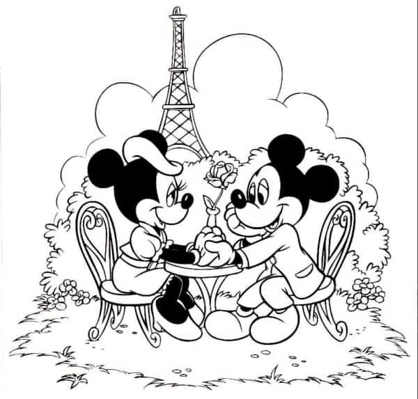 Mickey e Minnie para colorir e divertir as crianças