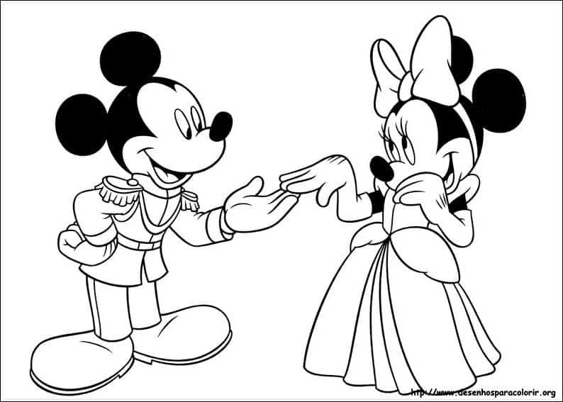 Mickey e Minnie para pintar