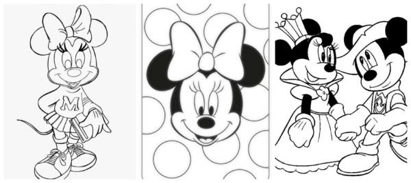 Minnie para colorir 4