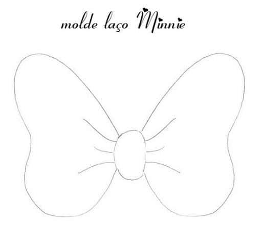 Modelo de laço da Minnie