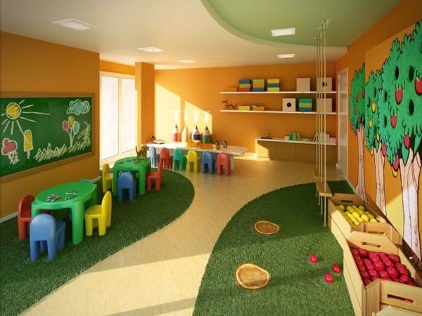 Modelo de piso para espaços de brincar