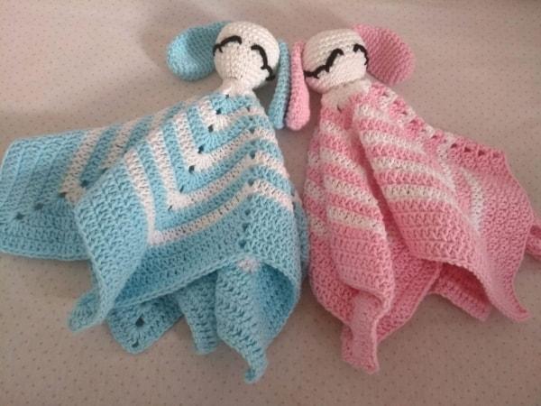 Modelos de naninhas para bebê de coelhinhos