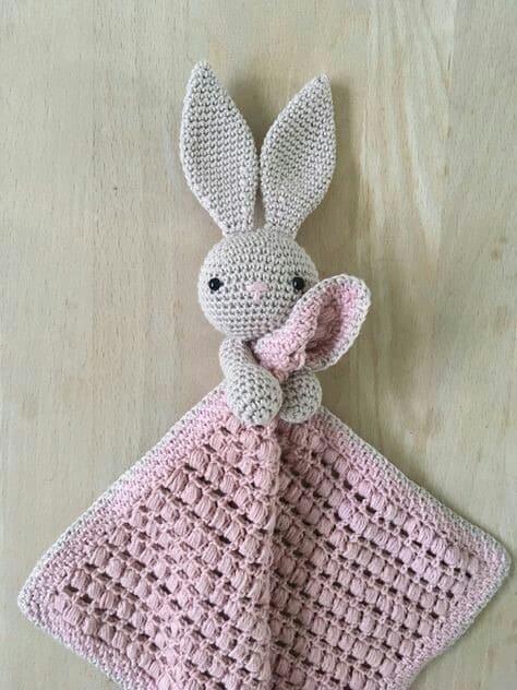 Naninha de coelho rosa