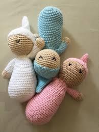 Naninhas de crochê de benbês