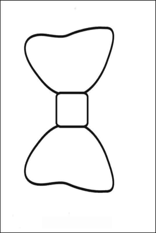 Outro modelo de laço da Minnie para colorir