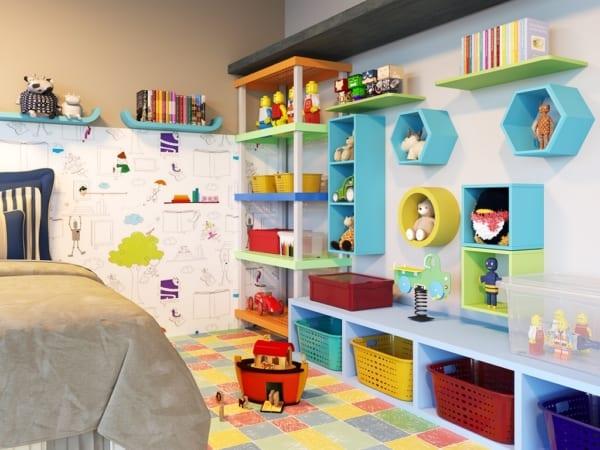Prateleiras e nichos pra brinquedoteca 3