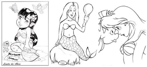 Sereia para colorir 1