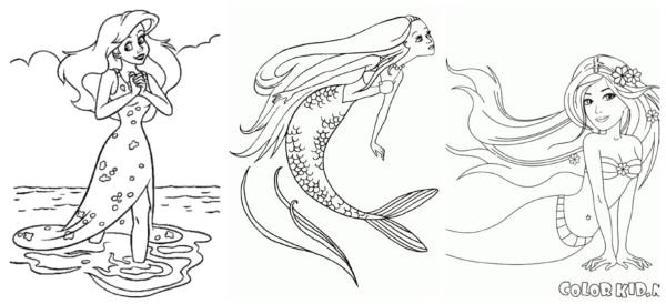 Sereia para colorir 4
