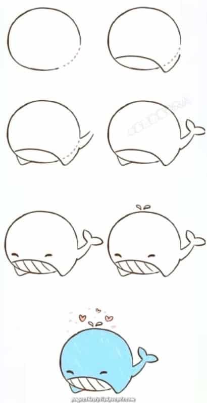 baleia kawaii