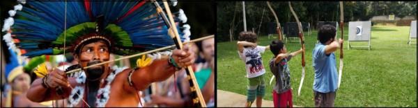 brinquedos indígenas arco e flecha